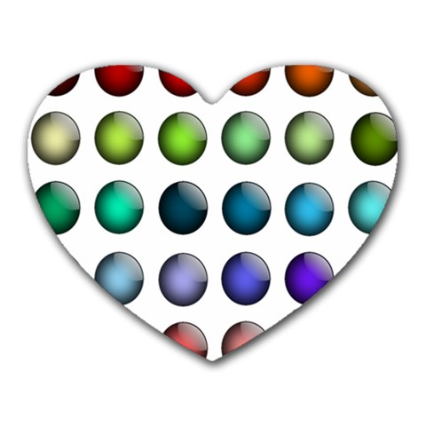 Button Icon About Colorful Shiny Heart Mousepads