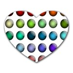 Button Icon About Colorful Shiny Heart Mousepads Front
