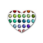 Button Icon About Colorful Shiny Rubber Coaster (Heart)  Front