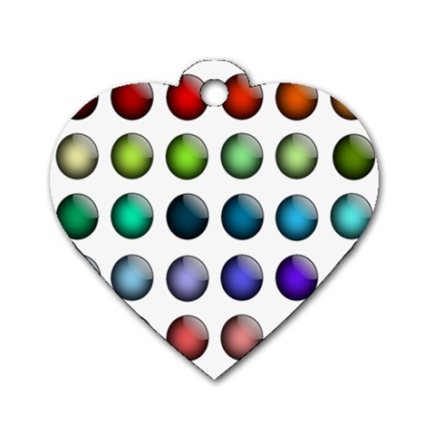 Button Icon About Colorful Shiny Dog Tag Heart (One Side)