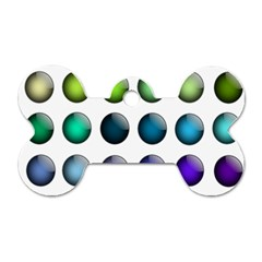 Button Icon About Colorful Shiny Dog Tag Bone (Two Sides)