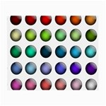 Button Icon About Colorful Shiny Small Glasses Cloth (2-Side) Front