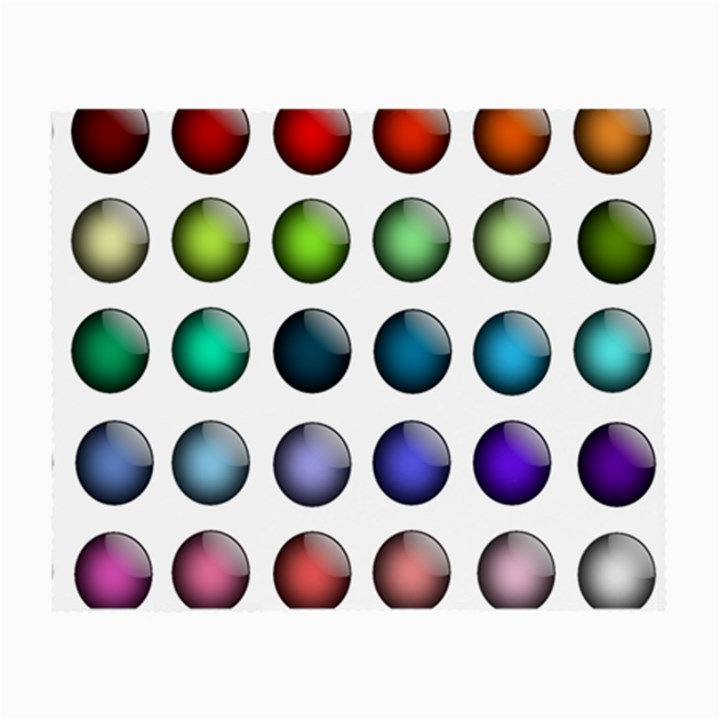 Button Icon About Colorful Shiny Small Glasses Cloth (2-Side)