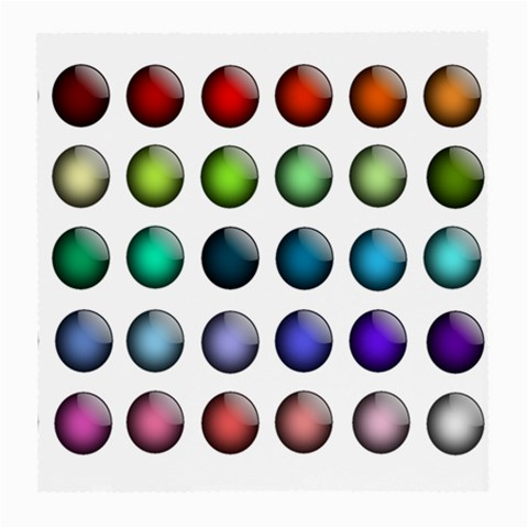 Button Icon About Colorful Shiny Medium Glasses Cloth (2-Side)