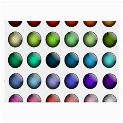 Button Icon About Colorful Shiny Large Glasses Cloth (2-Side)
