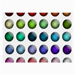 Button Icon About Colorful Shiny Large Glasses Cloth (2-Side) Front