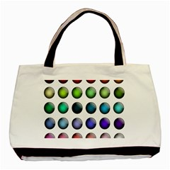 Button Icon About Colorful Shiny Basic Tote Bag (Two Sides)