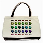 Button Icon About Colorful Shiny Basic Tote Bag (Two Sides) Back