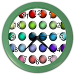 Button Icon About Colorful Shiny Color Wall Clocks Front