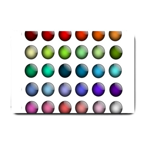 Button Icon About Colorful Shiny Small Doormat