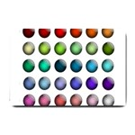 Button Icon About Colorful Shiny Small Doormat  24 x16 Door Mat - 1