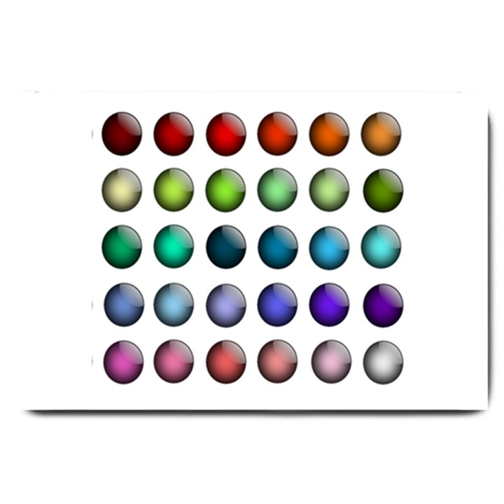 Button Icon About Colorful Shiny Large Doormat