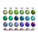 Button Icon About Colorful Shiny Plate Mats 18 x12 Plate Mat - 1