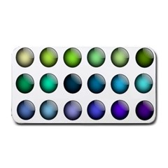 Button Icon About Colorful Shiny Medium Bar Mats