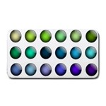 Button Icon About Colorful Shiny Medium Bar Mats 16 x8.5 Bar Mat - 1