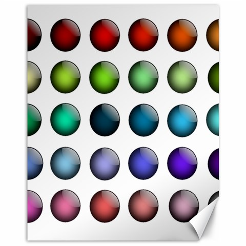 Button Icon About Colorful Shiny Canvas 11  x 14
