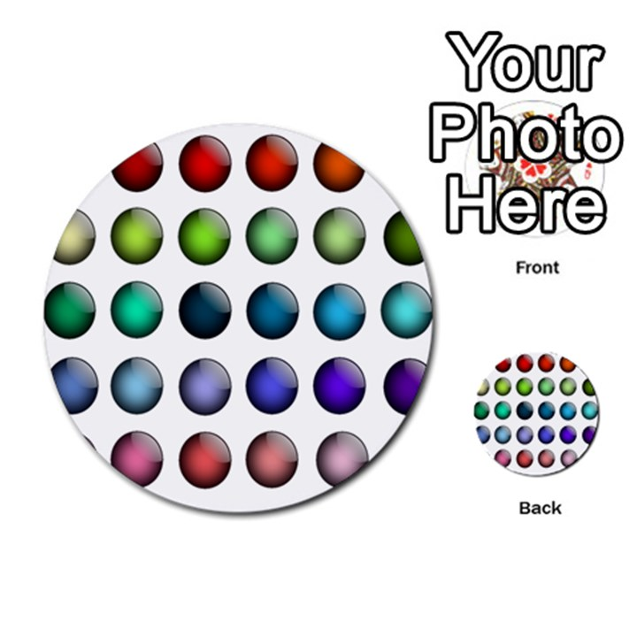 Button Icon About Colorful Shiny Multi-purpose Cards (Round)
