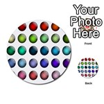 Button Icon About Colorful Shiny Multi-purpose Cards (Round)  Front 12