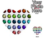 Button Icon About Colorful Shiny Multi-purpose Cards (Heart)  Front 33