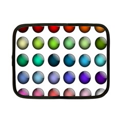 Button Icon About Colorful Shiny Netbook Case (Small)