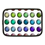 Button Icon About Colorful Shiny Netbook Case (Medium)  Front