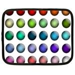 Button Icon About Colorful Shiny Netbook Case (Large) Front