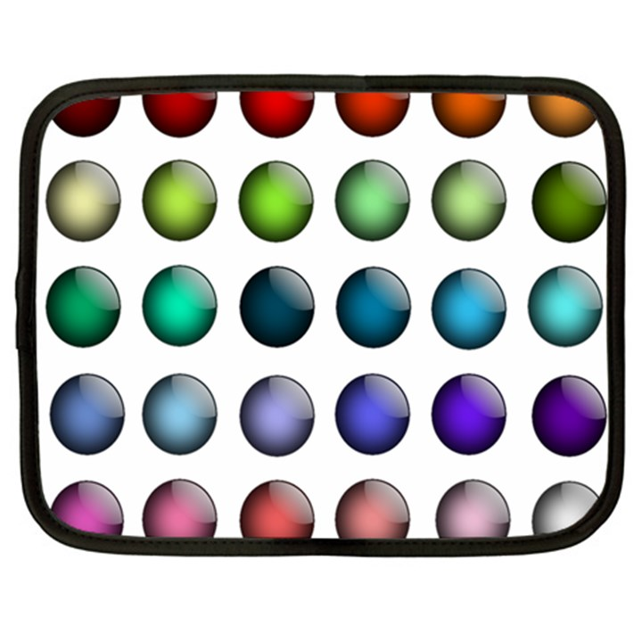 Button Icon About Colorful Shiny Netbook Case (Large)
