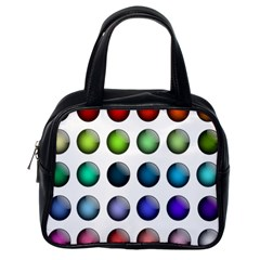 Button Icon About Colorful Shiny Classic Handbags (One Side)