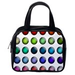 Button Icon About Colorful Shiny Classic Handbags (One Side) Front