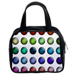 Button Icon About Colorful Shiny Classic Handbags (2 Sides) Front