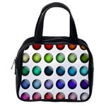 Button Icon About Colorful Shiny Classic Handbags (2 Sides) Back