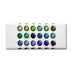 Button Icon About Colorful Shiny Hand Towel