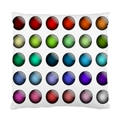 Button Icon About Colorful Shiny Standard Cushion Case (One Side)