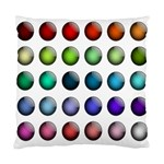 Button Icon About Colorful Shiny Standard Cushion Case (Two Sides) Back