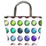 Button Icon About Colorful Shiny Bucket Bags Front