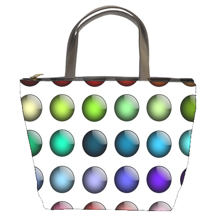 Button Icon About Colorful Shiny Bucket Bags