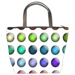 Button Icon About Colorful Shiny Bucket Bags Back