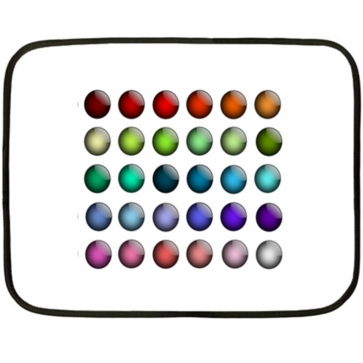 Button Icon About Colorful Shiny Fleece Blanket (Mini)