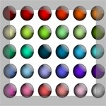 Button Icon About Colorful Shiny Mini Canvas 8  x 8  8  x 8  x 0.875  Stretched Canvas