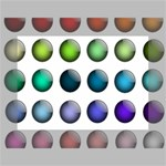 Button Icon About Colorful Shiny Mini Canvas 7  x 5  7  x 5  x 0.875  Stretched Canvas