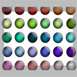 Button Icon About Colorful Shiny Canvas 14  x 11  14  x 11  x 0.875  Stretched Canvas