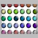 Button Icon About Colorful Shiny Canvas 16  x 12  16  x 12  x 0.875  Stretched Canvas