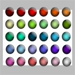 Button Icon About Colorful Shiny Canvas 20  x 16  20  x 16  x 0.875  Stretched Canvas
