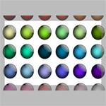 Button Icon About Colorful Shiny Canvas 18  x 12  18  x 12  x 0.875  Stretched Canvas