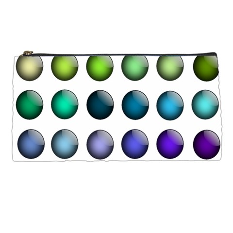 Button Icon About Colorful Shiny Pencil Cases
