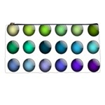 Button Icon About Colorful Shiny Pencil Cases Front