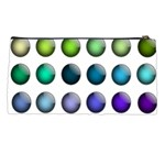 Button Icon About Colorful Shiny Pencil Cases Back