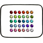 Button Icon About Colorful Shiny Double Sided Fleece Blanket (Mini)  35 x27 Blanket Back