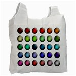 Button Icon About Colorful Shiny Recycle Bag (One Side) Front