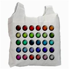 Button Icon About Colorful Shiny Recycle Bag (Two Side)